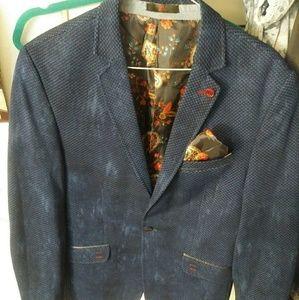 Alsiva Mens Blue Sports Coat